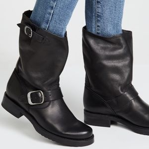 Frye Womens Veronica Short Leather Boots Black NEW